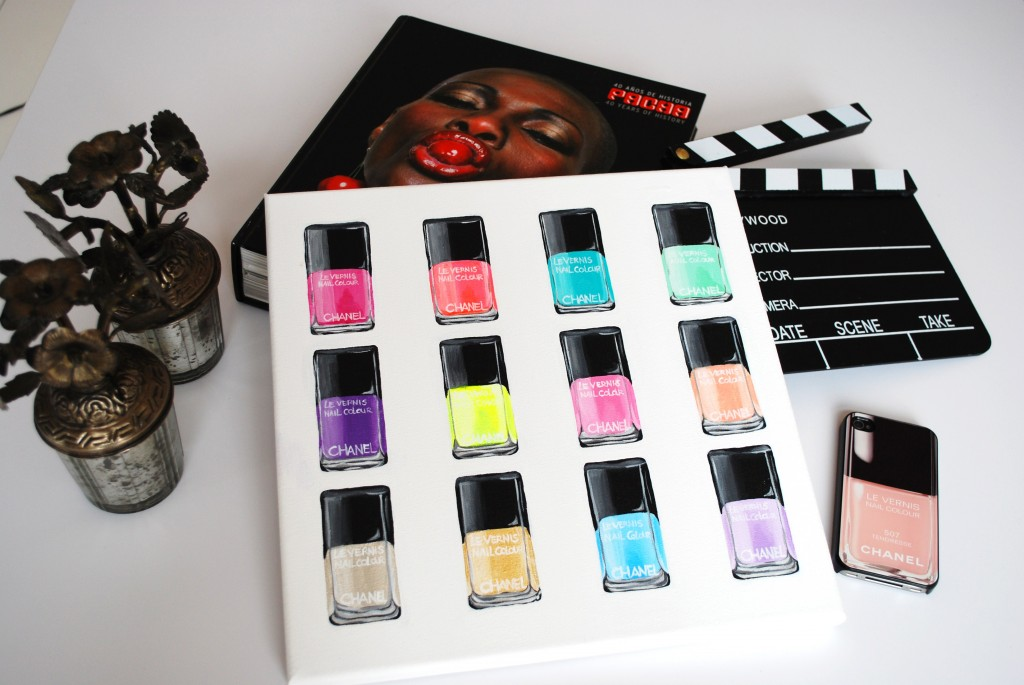 chanel nailpolish painting