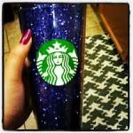 glitter starbucks cup