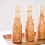glitter champagne botlle diy
